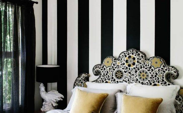 Top Beauty Black White Striped Home Design Easy