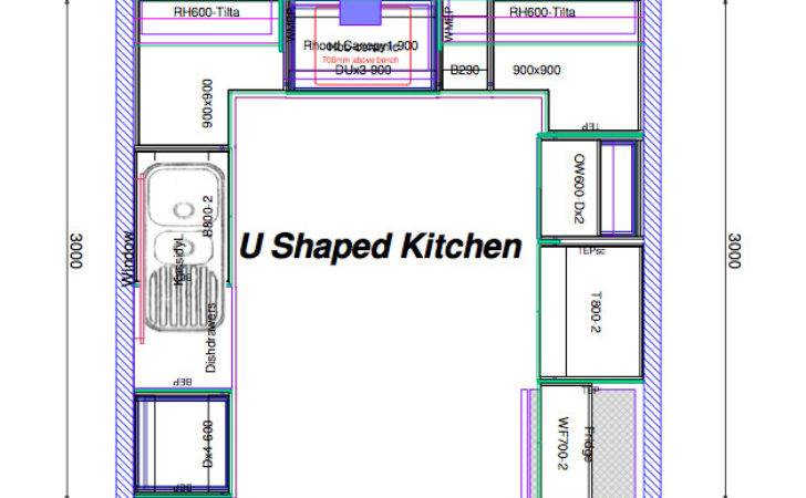 Top Shaped Kitchen House Plans Interior
