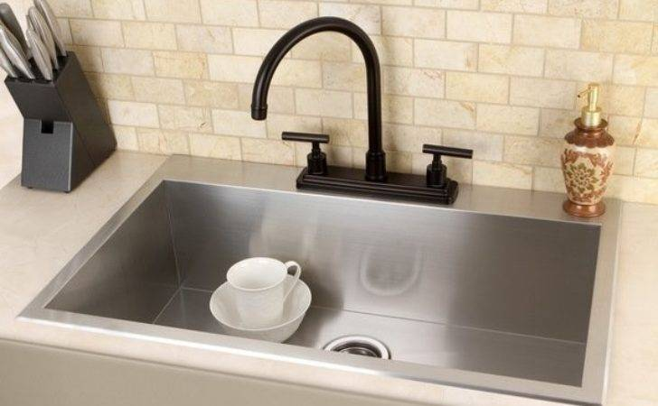 Topmount Inch Single Bowl Stainless Steel Kitchen