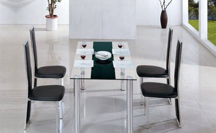 Torino Glass Dining Table Chairs