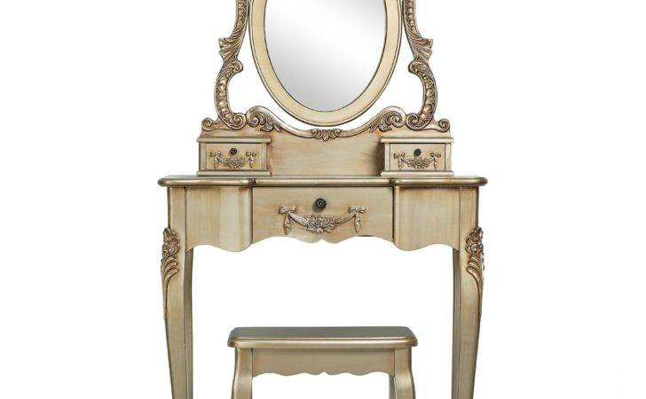 Toulouse Gold Dressing Table Stool Dunelm Mill