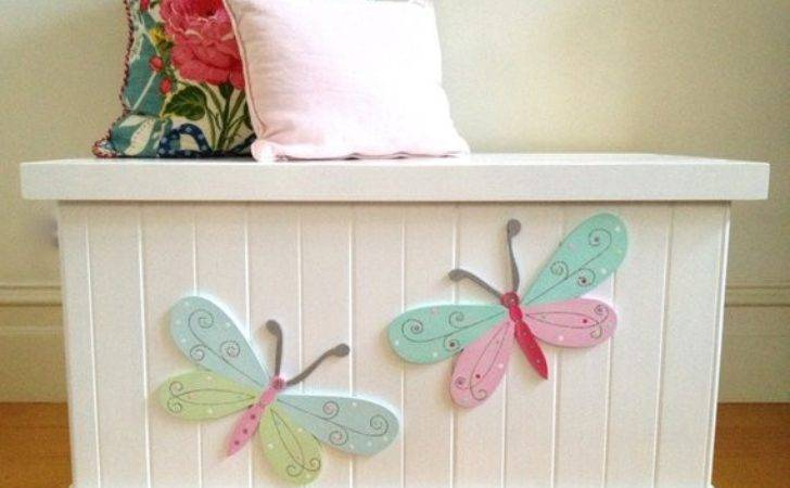 Toy Box Butterfly Girls Chest Storage