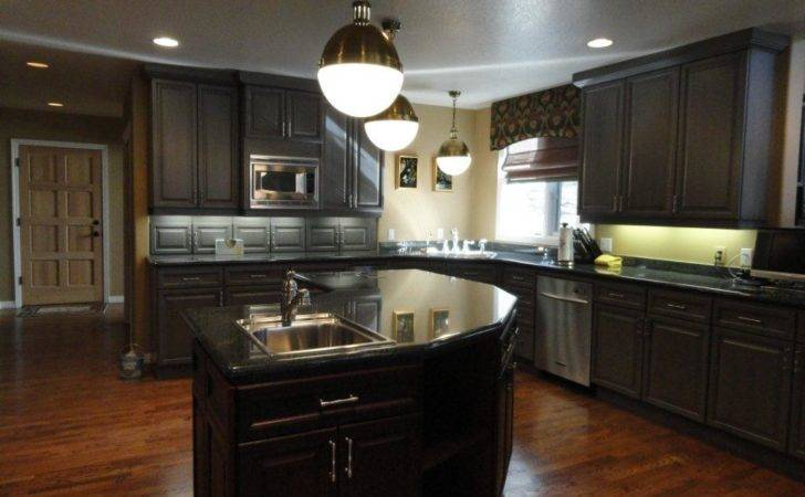 Traditional Dark Kitchen Cabinets Godfather Style
