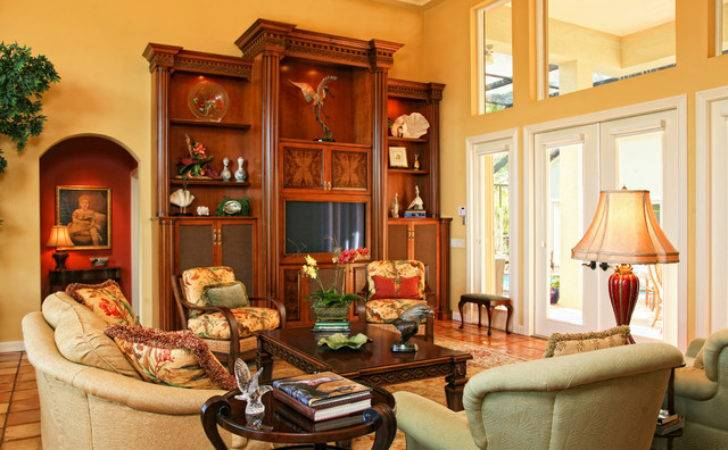 Traditional Living Room Beautiful Wood Built