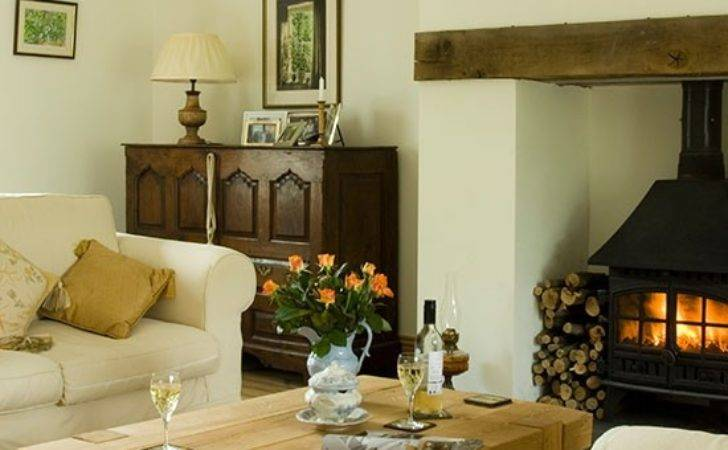 Traditional Living Room Woodburner Decorating