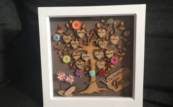 Tree Frame Gift Personalised Rustic Wall Art