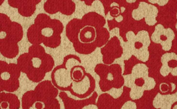 Trevira Flower Pattern Upholstery Fabric Bogesunds
