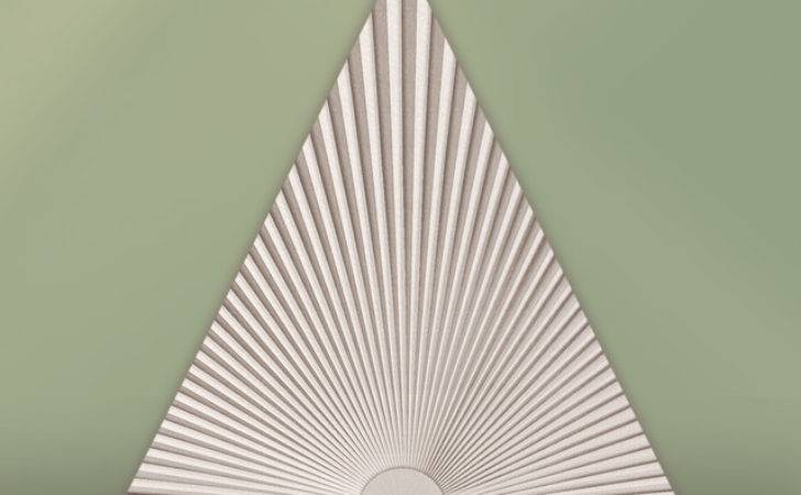 Triangle Window Covering Contemporary Cellular Shades