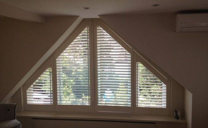 Triangular Shaped Shutters Traditional Windows