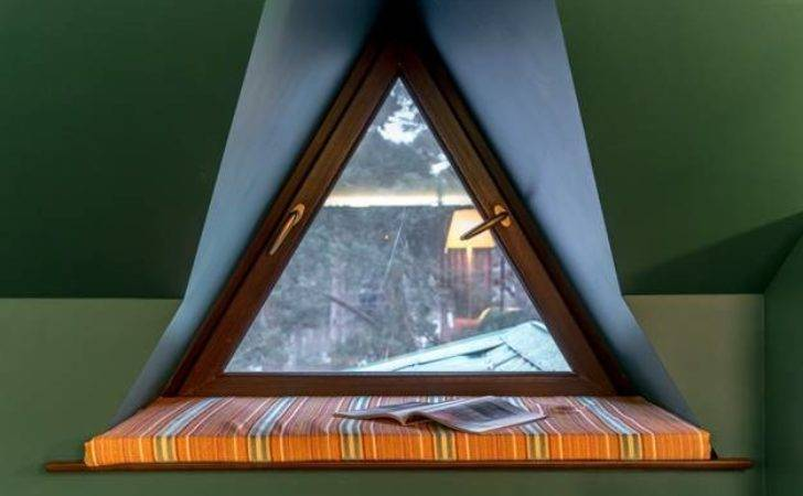 Triangular Window Designs Customizing Modern House