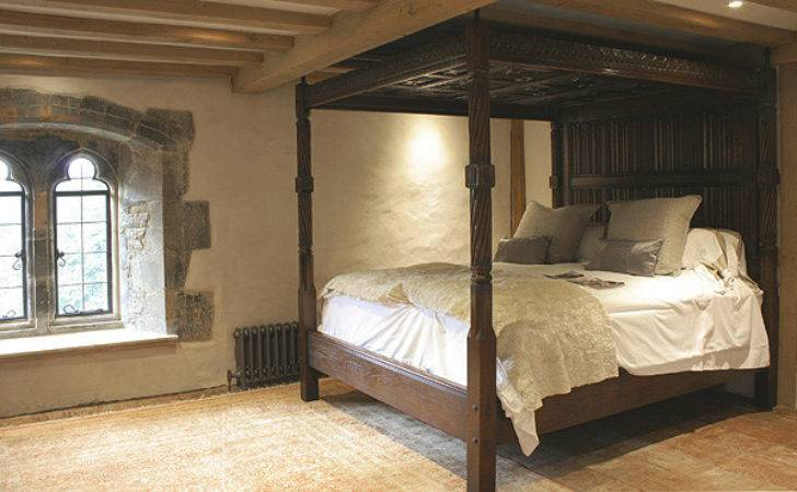 Tudor Style Carved Oak Four Poster Bed Sussex Manor House