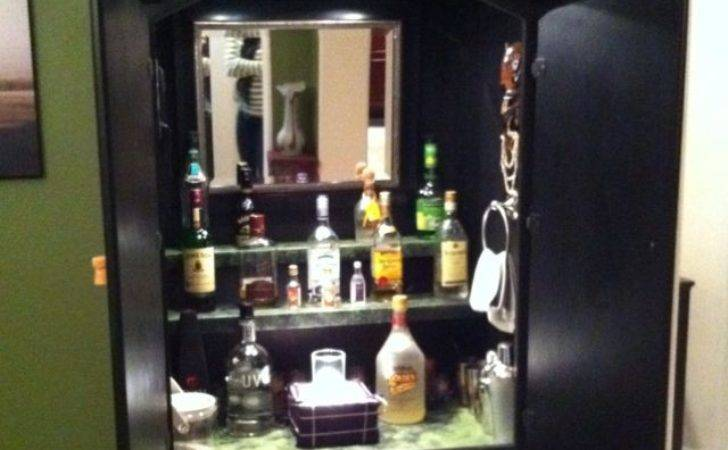 Turn Old Armoire Into Bar Home Pinterest