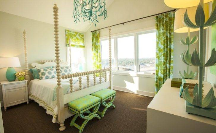 Turquoise Green Girl Room Contemporary