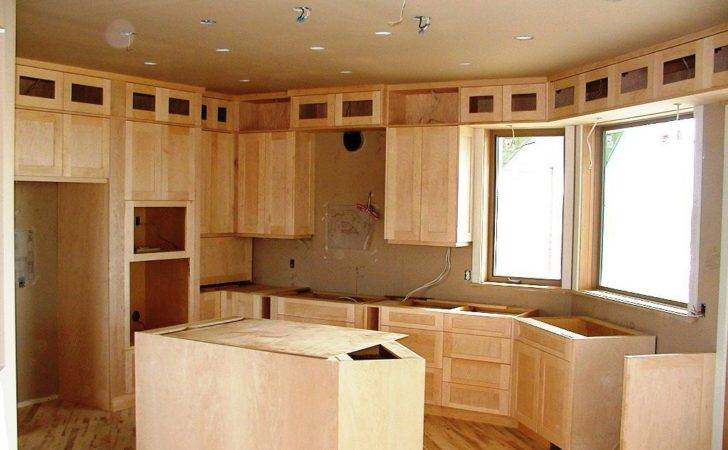 Unfinished Kitchen Cabinets Decor Design Ideas