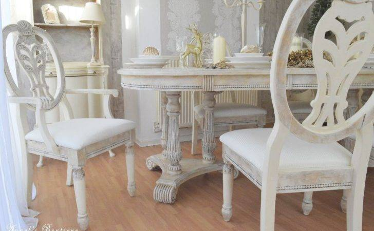 Unique French Provence Shabby Chic Dining Table