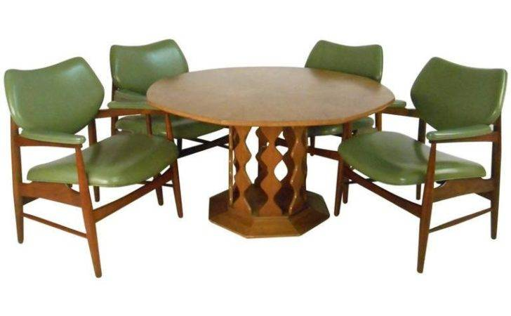 Unique Mid Century Danish Dining Table Chairs