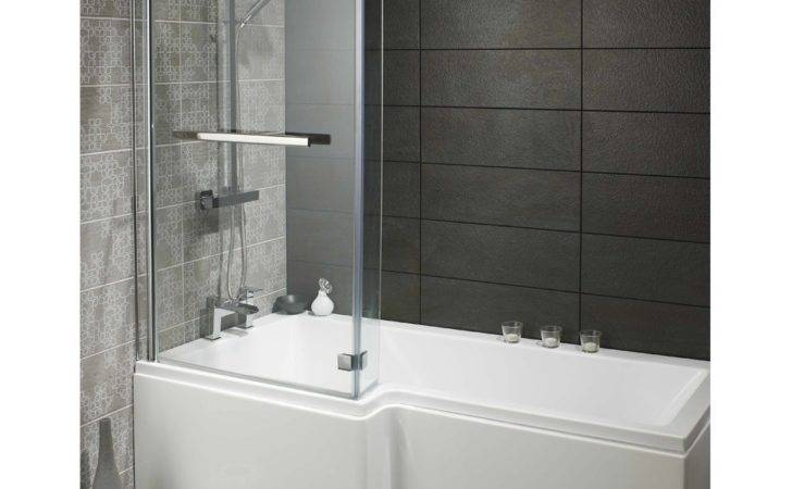 Universal Over Bath Glass Shower Screen Shaped
