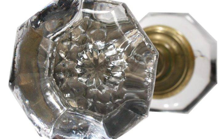 Unusual Antique Glass Door Knob Sets Stars Early