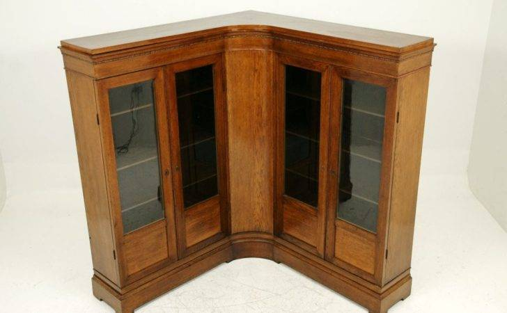 Unusual Antique Oak Corner Bookcase Stdibs
