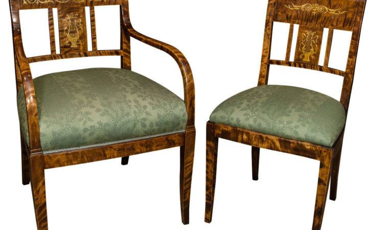Unusual Set Six French Charles Dining Chairs Stdibs