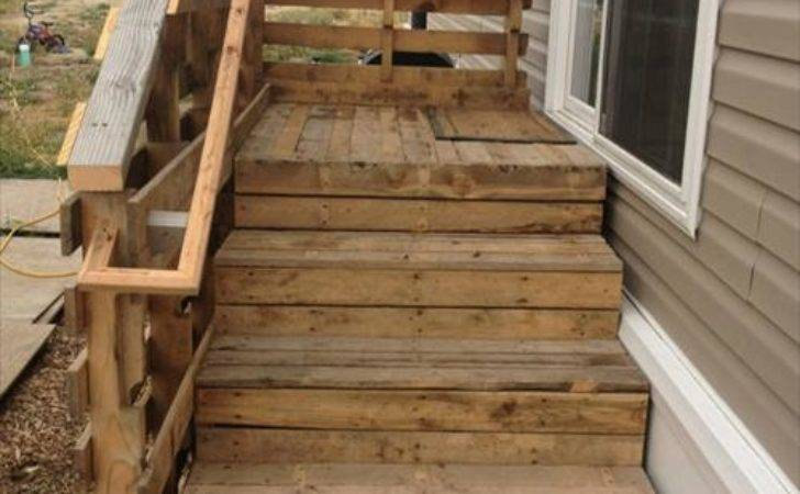 Used Old Pallet Wood Stairs Ideas Pallets Designs