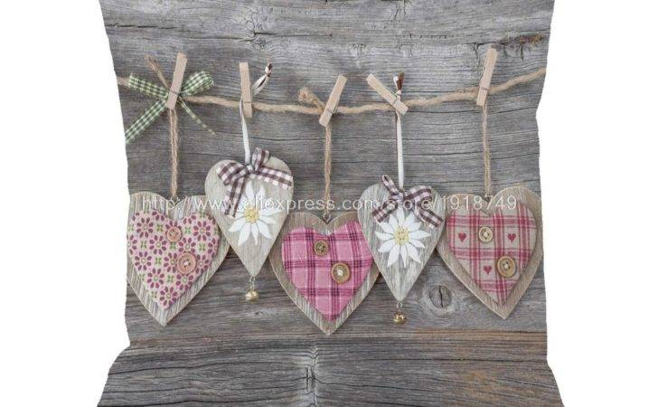 Various Heart Shape Printed Wooden Wedding Home Decorative
