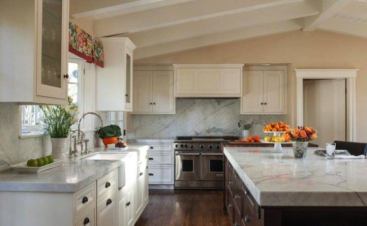Vaulted Ceiling Kitchen Transitional
