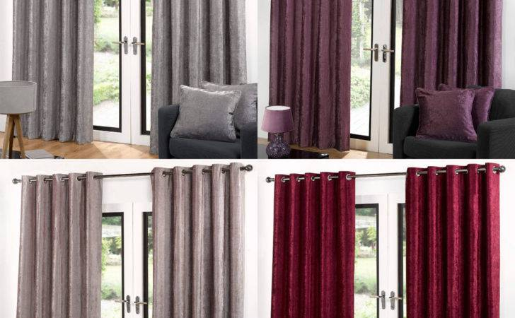 Velvet Ring Top Eyelet Quality Ready Made Lined Curtains