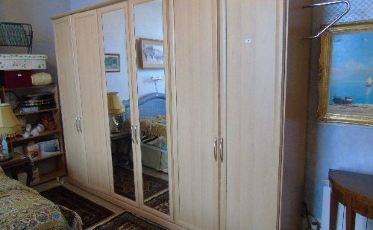 Very Large Semi Fitted Light Coloured Wardrobe Four