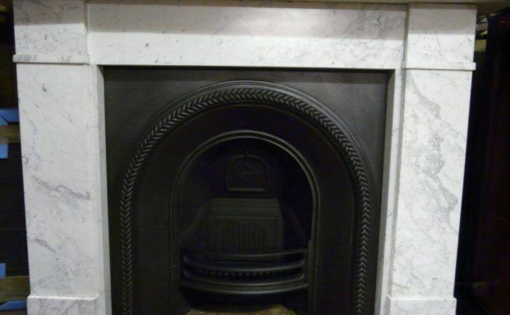 Victorian Carrara Marble Fire Surround Old