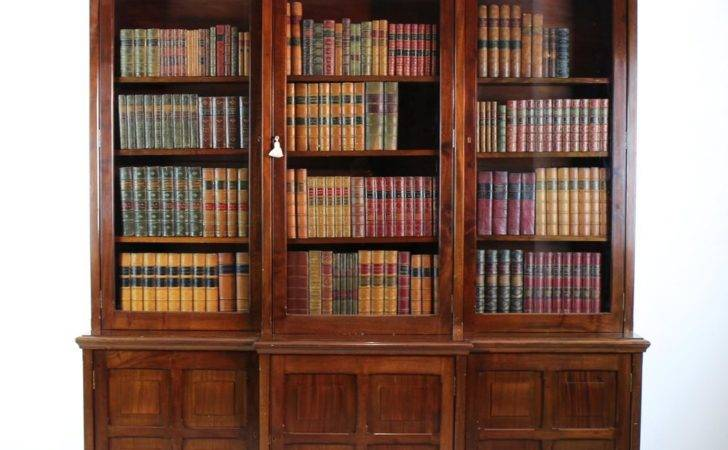 Victorian Mahogany Breakfront Library Bookcase Antiques