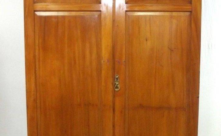 Victorian Mahogany Hall Cupboard Doors Enclosing