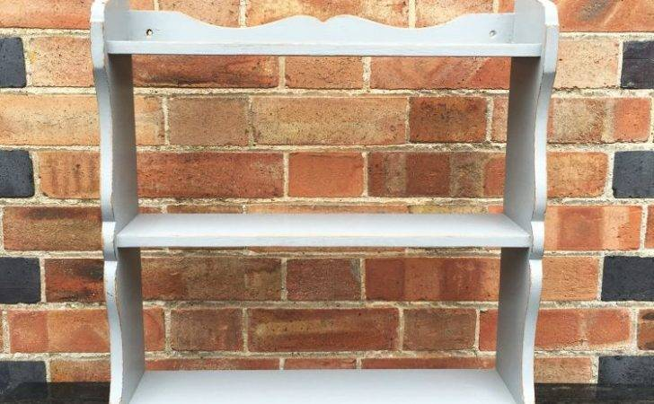 Victorian Painted Pine Small Hanging Shelves Ref