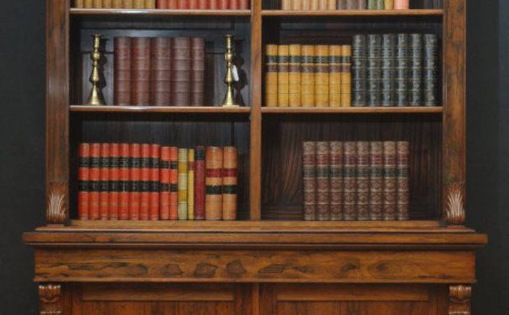 Victorian Rosewood Library Bookcase Antiques Atlas