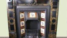Victorian Slate Fire Surround Tiled Insert