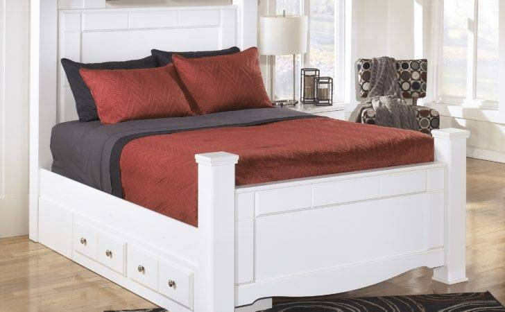 Victorian White Mahogany Wood Captains Bed Frame Four