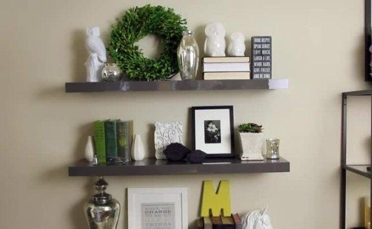 Video Decorating Floating Shelves Ehow