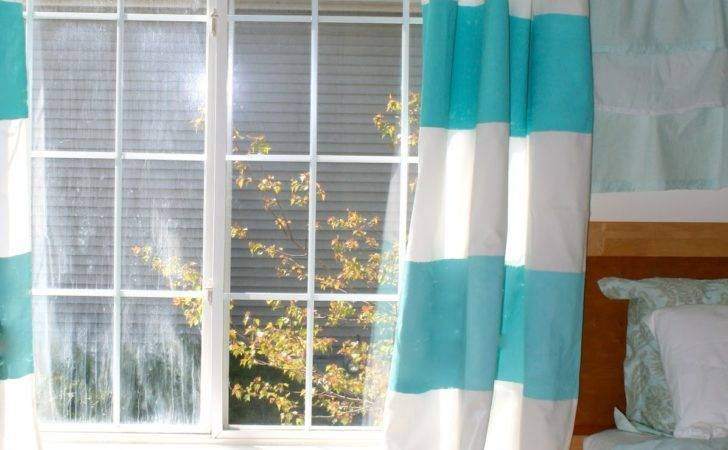 Vie Diy Ombre Striped Curtains