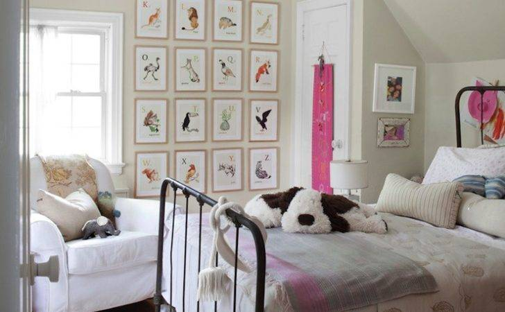 Vintage Alphabets Art Traditional Girl Room