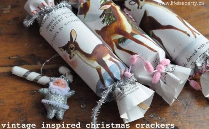 Vintage Inspired Homemade Christmas Crackers Life Party