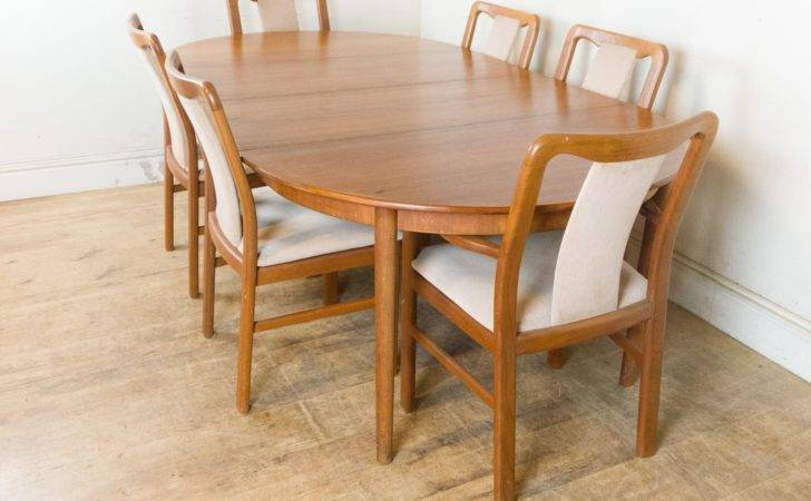Vintage Retro Danish Extending Dining Table Chairs