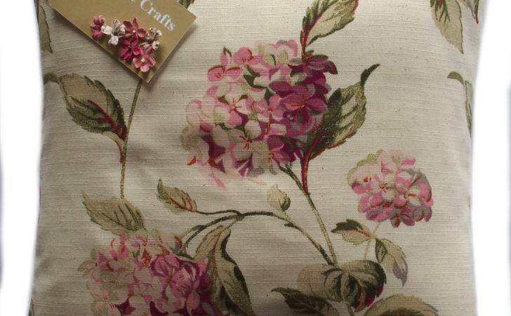 Vintage Shabby Chic Laura Ashley Hydrangea Pink Natural
