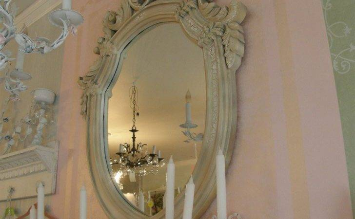 Vintage Shabby Chic Mirror Frame Fabulous Huge Ornate Scrolly