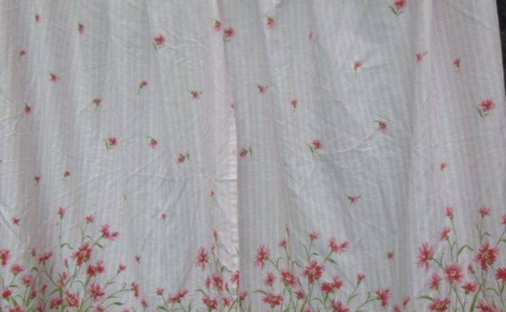 Vintage Shabby Chic Pink Floral Curtains