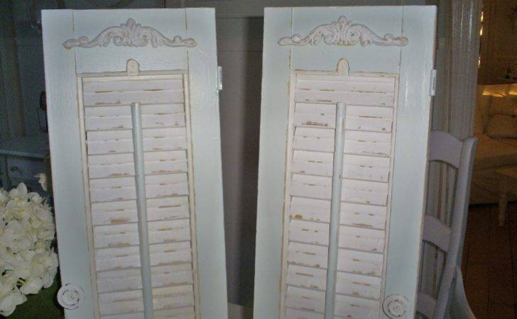 Vintage Shutters Shabby Chic Louvered