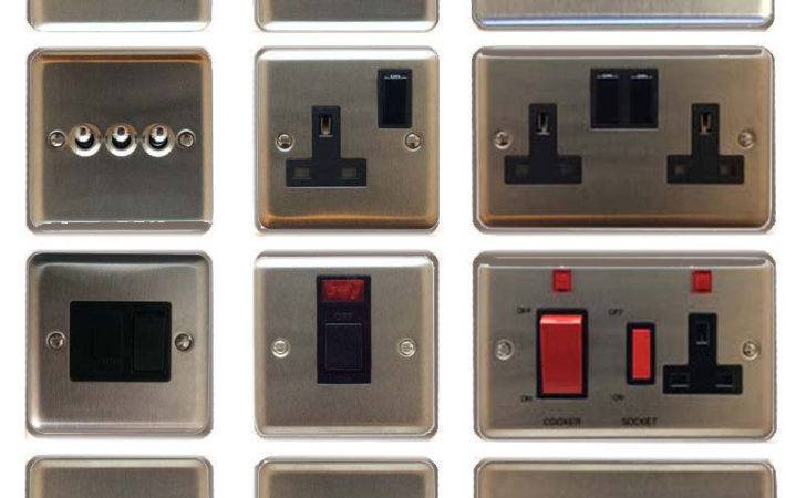Volex Brushed Stainless Steel Light Switches
