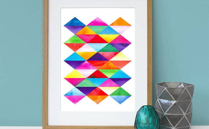 Wall Art Decor Graphic Colorful Blue