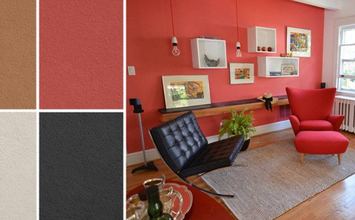 Wall Color Red Matching Home Combo