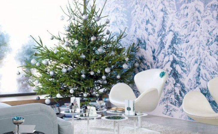 Wall Living Room Decorating Ideas Christmas Spaces