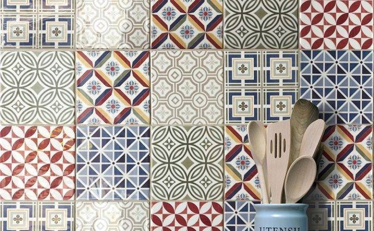 Wall Tile Country Patchwork
